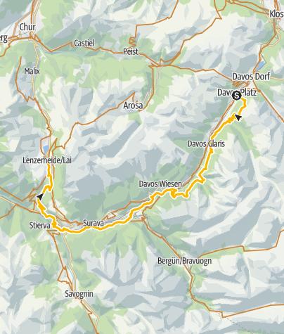 Karte / GrischaTrail: Davos - Lenzerheide