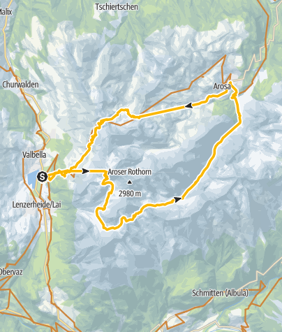Karte / GPS Furcletta/Welschtobel/Ramozhütte Tour