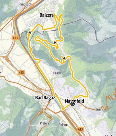 Karte / Regitzer Spitz