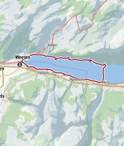 Map / Lake Walen