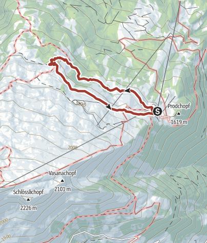 Karte / Heidipfad - Alp Schwarzbüel