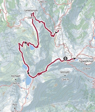Map / 5-lake-hike Pizol