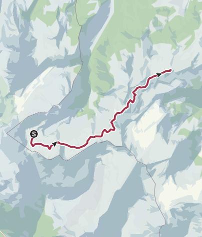 Karte / Heidiland Wander Tour 3: Murgsee - Flumserberg