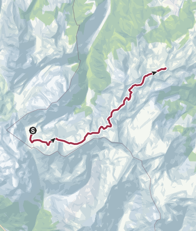 Map / Heidiland Hiking Tour 3: Murgsee - Flumserberg