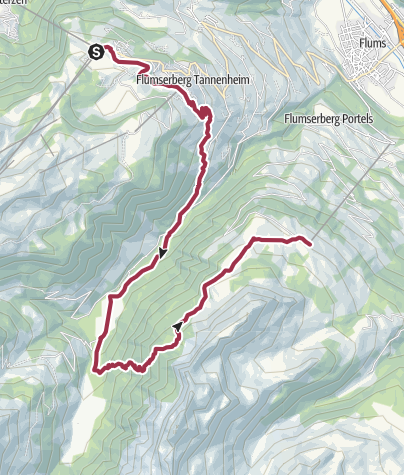Karte / Heidiland Wander Tour 3: Flumserberg - Kleinberg
