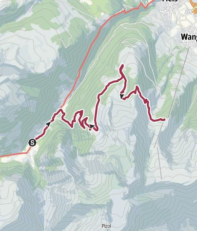 Karte / Heidiland Wander Tour 5: Weisstannen - Pizol