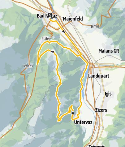 Karte / Pfäfers, Rheintal pur