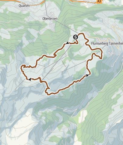 Karte / Flumserberg - Panoramabike Nr. 470