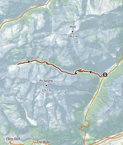 Map / Calfeisental, the secluded