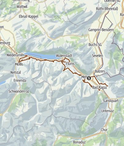 Karte / Heidiland Trail Nr. 25: Heidi von A bis Z