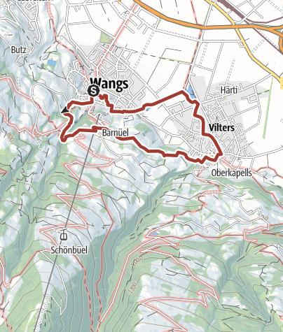 Karte / Pfarrer Künzle Weg Wangs