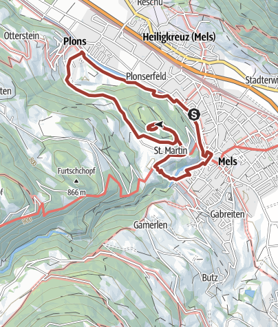 Karte / Melser Geoweg