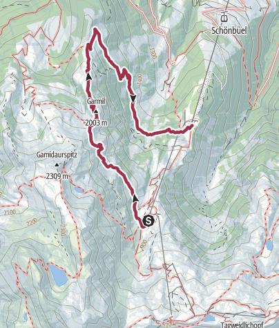Karte / Garmil-Höhenwanderung Pizol