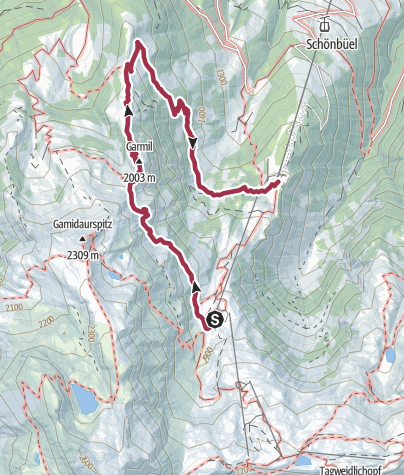 Map / Garmil high-altitude hike