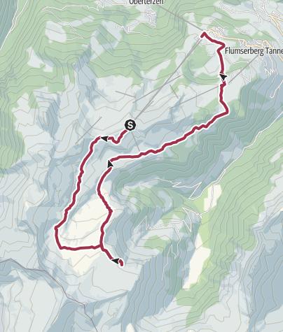 Karte / Maschgenkamm - Spitzmeilenhütte - Tannenbodenalp