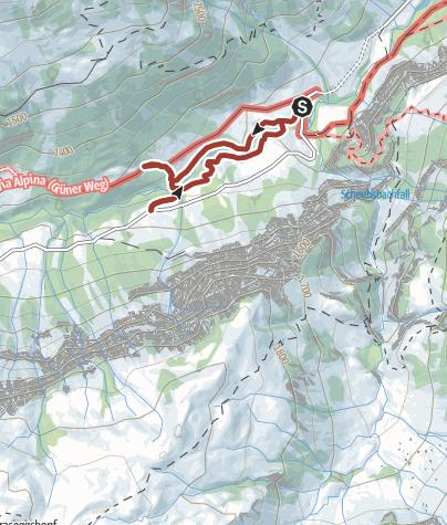 Map / Alpine trail in Mels