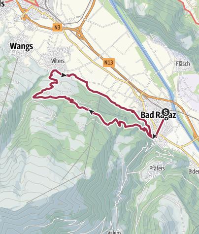 Karte / Bad Ragaz - Vilters - Bad Ragaz