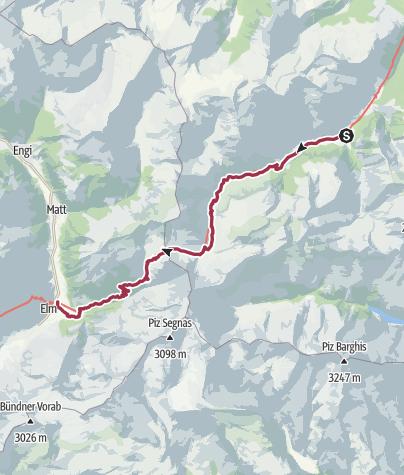 Karte / Weisstannen - Foopass - Elm