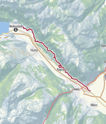 Map / From Lake Walen to the Castle Sargans