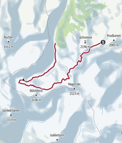 Map / Maschgenkamm - Lake Murgsee