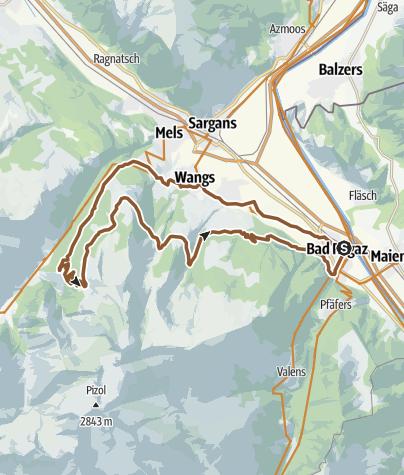 Map / Alp Gamidaur Bike No. 471