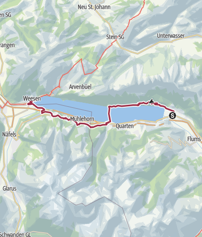 Map / Walensee - Tour