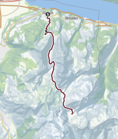 Map / Sardona-world-heritage-trail No. 73, section 1