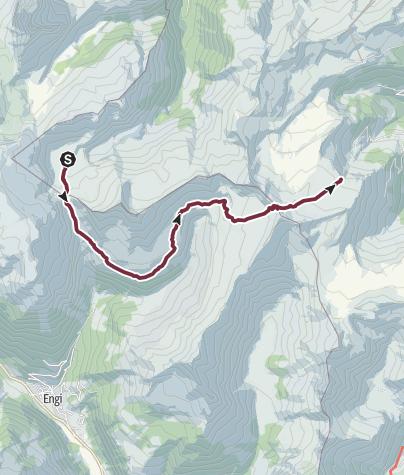 Karte / Sardona-Welterbe-Weg Nr. 73, 2. Etappe