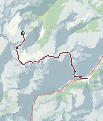 Karte / Sardona-Welterbe-Weg Nr. 73, 3. Etappe