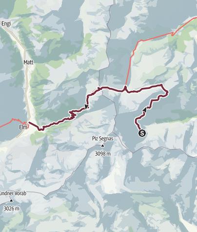 Karte / Sardona-Welterbe-Weg Nr. 73, 5. Etappe