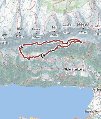 Karte / Alp- und Kulturweg Schrina