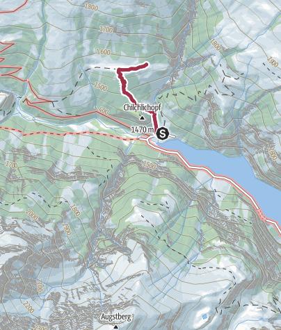 Karte / Weg zur dicksten Tanne der Welt