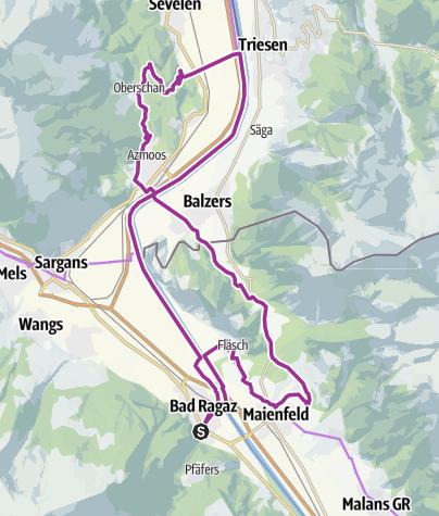 Karte / Heidiland Wein- und Kulturroute