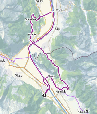 Map / Heidiland wine and cultural route