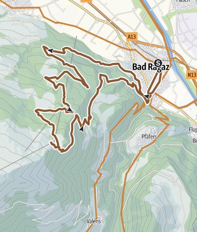 Karte / Pizol-Challenge Nr. 474