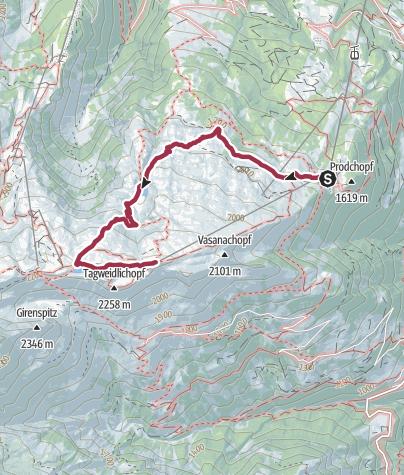 Karte / Geocaching 2-Seen-Wanderung