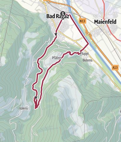 Karte / Taminaschlucht Rundtour