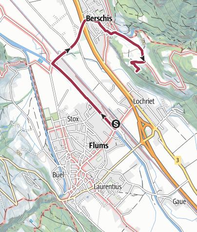 Karte / Route des Staunens Berschis