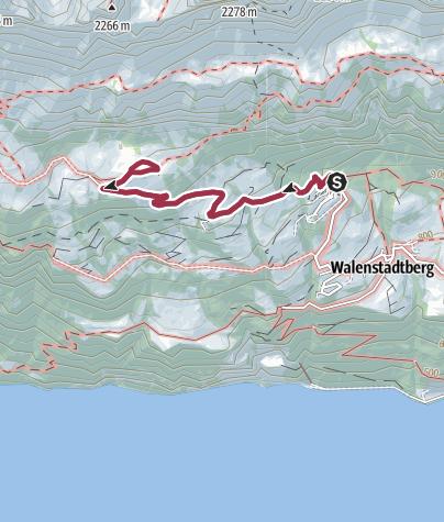 Karte / Route des Staunens Walenstadtberg