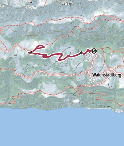 Map / Route of amazement Walenstadtberg