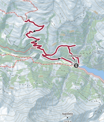 Map / Route of amazement Calfeisental