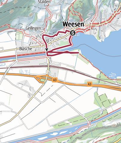 Karte / Route des Staunens Weesen