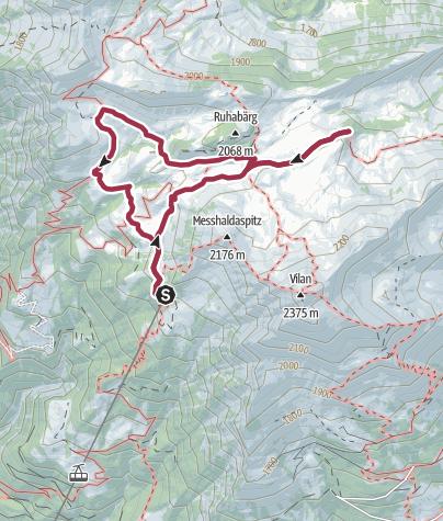 Map / Route des Staunens Malanser Älpli