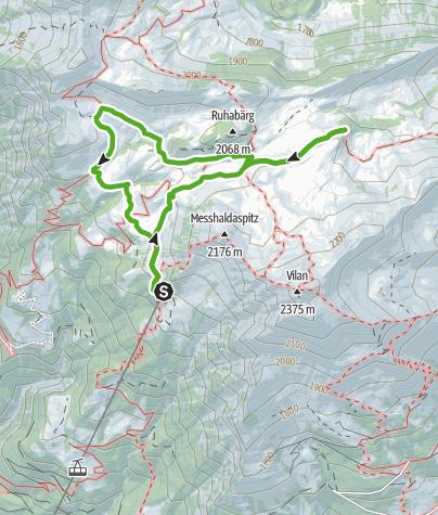 Karte / Route des Staunens Malanser Älpli
