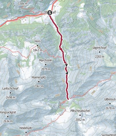 Map / Route of amazement Weisstannental