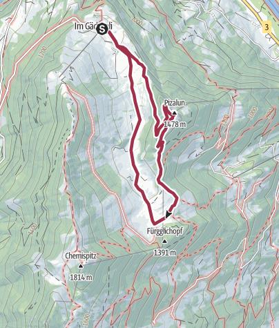 Map / Pizalun round tour
