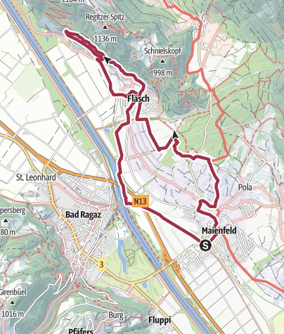 Karte / Weinrunde Maienfeld / Fläsch