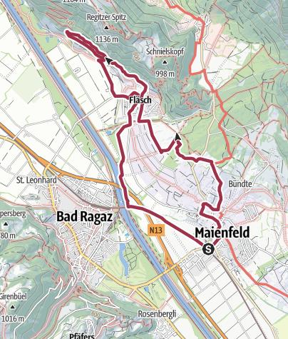Map / Wine tour Maienfeld / Fläsch