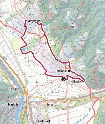 Map / Wine tour Malans / Jenins