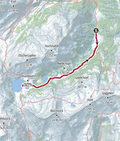 Karte / Murgsee-Geniessertour